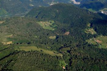 Foto panoramica della vallata