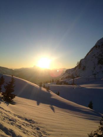Sonnenuntergang am Monte Zoncolan