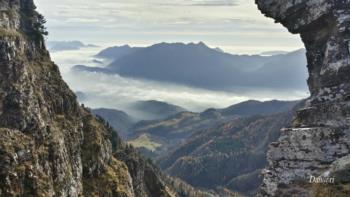 Blick auf Pani vom Berg Col Gentile